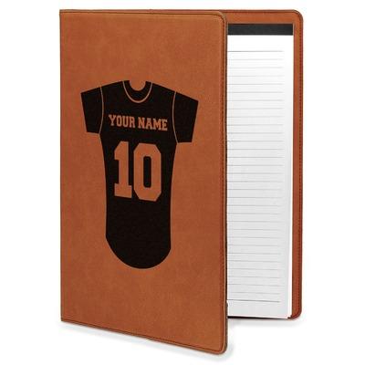 Baseball Jersey Leatherette Portfolio with Notepad (Personalized)