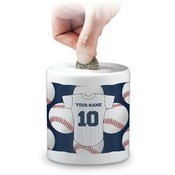Baseball Jersey Coin Bank (Personalized)