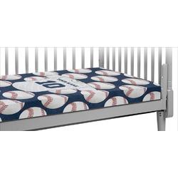 Baseball Jersey Crib Fitted Sheet (Personalized)