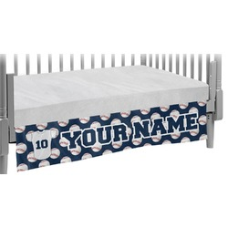 Baseball Jersey Crib Skirt (Personalized)