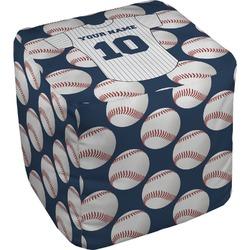 Baseball Jersey Cube Pouf Ottoman (Personalized)
