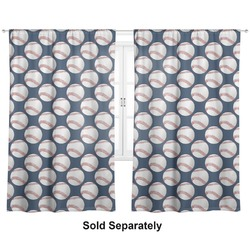 "Baseball Jersey Curtains - 20""x54"" Panels - Lined (2 Panels Per Set) (Personalized)"