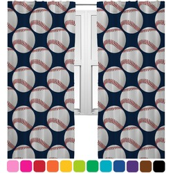 Baseball Jersey Curtains (2 Panels Per Set) (Personalized)