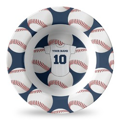 Baseball Jersey Plastic Bowl - Microwave Safe - Composite Polymer (Personalized)