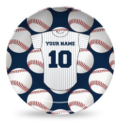 Baseball Jersey Microwave Safe Plastic Plate - Composite Polymer (Personalized)