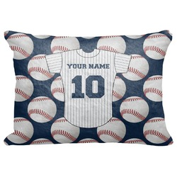 "Baseball Jersey Decorative Baby Pillowcase - 16""x12"" (Personalized)"
