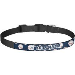 Baseball Jersey Dog Collar - Large (Personalized)