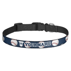 Baseball Jersey Dog Collar (Personalized)