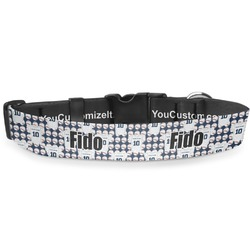 """Baseball Jersey Deluxe Dog Collar - Toy (6"""" to 8.5"""") (Personalized)"""