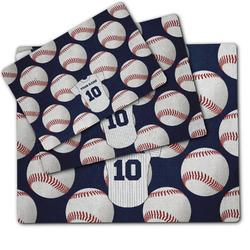 Baseball Jersey Dog Food Mat w/ Name and Number
