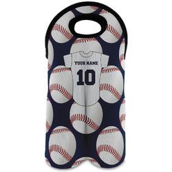 Baseball Jersey Wine Tote Bag (2 Bottles) (Personalized)