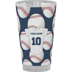 Baseball Jersey Drinking / Pint Glass (Personalized)
