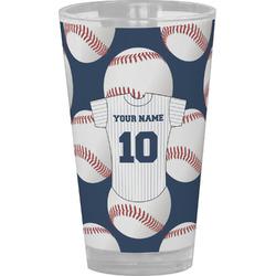 Baseball Jersey Drinking / Pint Glass (Personalized)