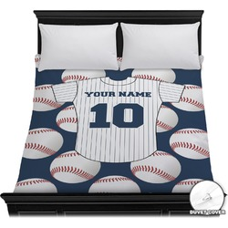Baseball Jersey Duvet Cover (Personalized)