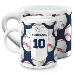 Baseball Jersey Espresso Cups (Personalized)
