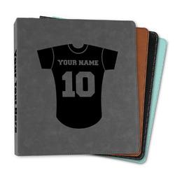 "Baseball Jersey Leather Binder - 1"" (Personalized)"