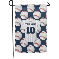 Baseball Jersey Garden Flag - Single or Double Sided (Personalized)