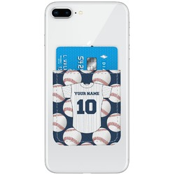 Baseball Jersey Genuine Leather Adhesive Phone Wallet (Personalized)