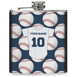 Baseball Jersey Genuine Leather Flask (Personalized)