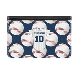 Baseball Jersey Genuine Leather ID & Card Wallet - Slim Style (Personalized)