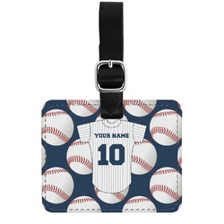 Baseball Jersey Genuine Leather Luggage Tag w/ Name and Number