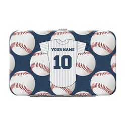 Baseball Jersey Genuine Leather Small Framed Wallet (Personalized)