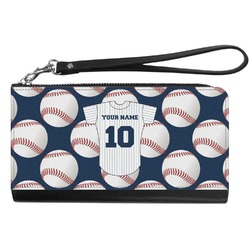 Baseball Jersey Genuine Leather Smartphone Wrist Wallet (Personalized)