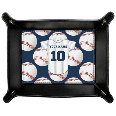 Baseball Jersey Genuine Leather Valet Tray (Personalized)