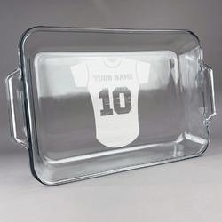 Baseball Jersey Glass Baking and Cake Dish (Personalized)