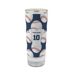 Baseball Jersey 2 oz Shot Glass - Glass with Gold Rim (Personalized)