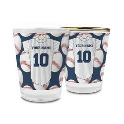 Baseball Jersey Glass Shot Glass - 1.5 oz (Personalized)