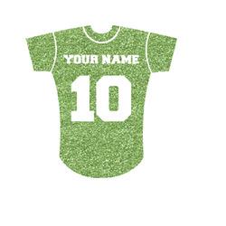 """Baseball Jersey Glitter Iron On Transfer - Up to 15""""x15"""" (Personalized)"""