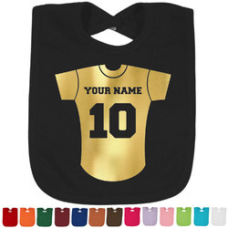Baseball Jersey Foil Toddler Bibs (Select Foil Color) (Personalized)