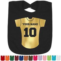 Baseball Jersey Foil Toddler Bibs (Select Foil Color) (Personalized)