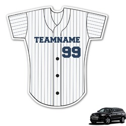 Baseball Jersey Graphic Car Decal (Personalized)