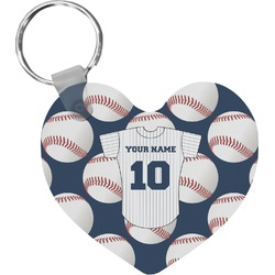 Baseball Jersey Heart Keychain (Personalized)