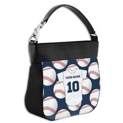 Baseball Jersey Hobo Purse w/ Genuine Leather Trim w/ Name and Number