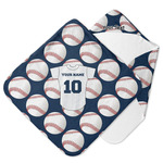Baseball Jersey Hooded Baby Towel (Personalized)