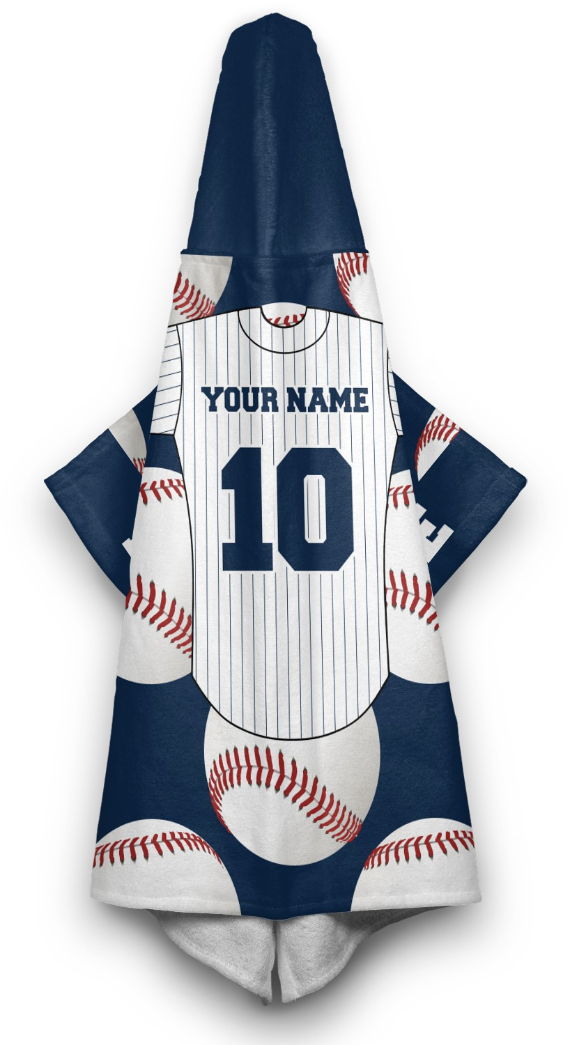 Baseball Jersey Hooded Towel Personalized Youcustomizeit