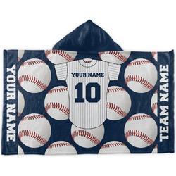 Baseball Jersey Kids Hooded Towel (Personalized)