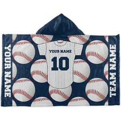 Baseball Jersey Kids Hooded Towel (Personalized)