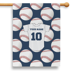 "Baseball Jersey 28"" House Flag (Personalized)"