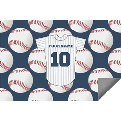 Baseball Jersey Indoor / Outdoor Rug (Personalized)