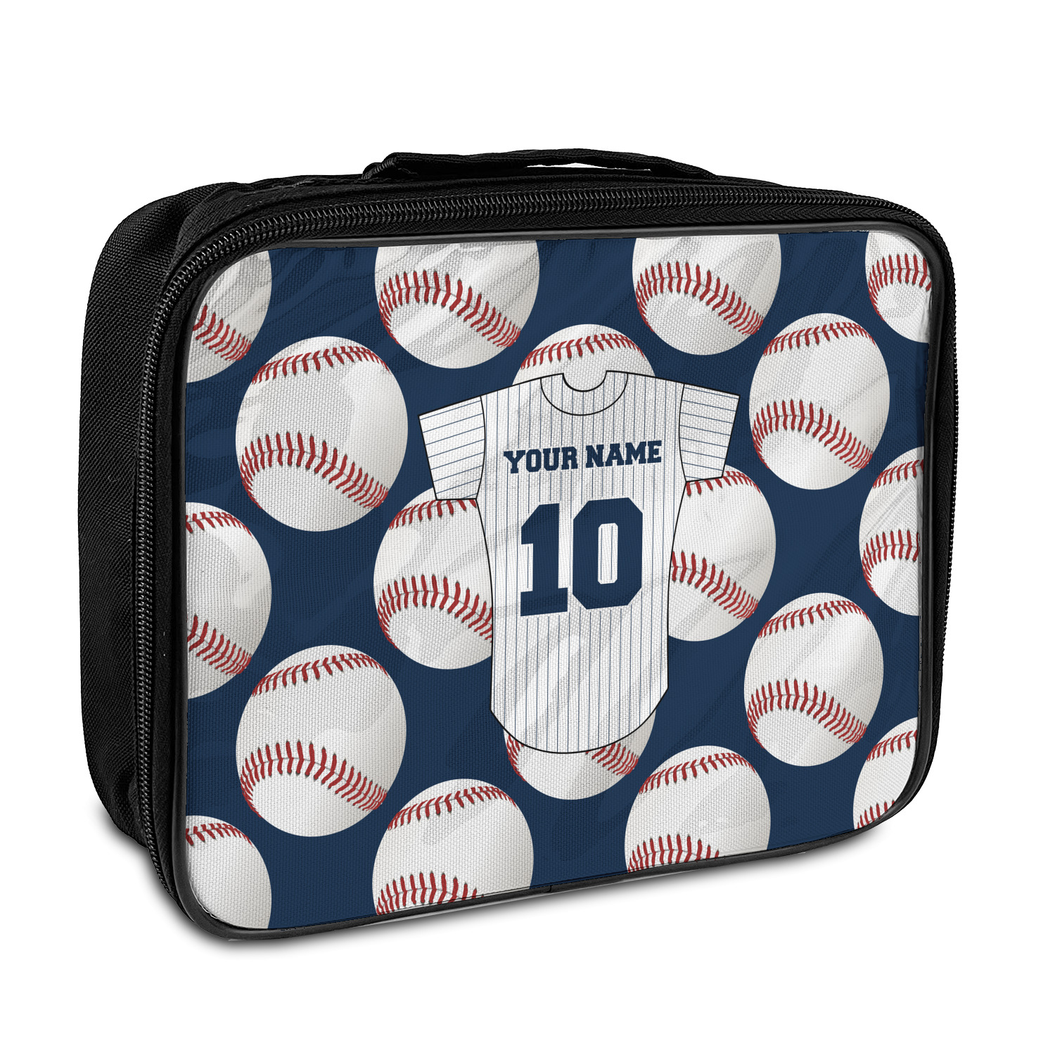 Baseball Jersey Insulated Lunch Bag Personalized
