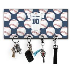 Baseball Jersey Key Hanger w/ 4 Hooks (Personalized)