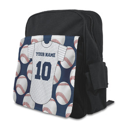 Baseball Jersey Kid's Backpack with Customizable Flap (Personalized)