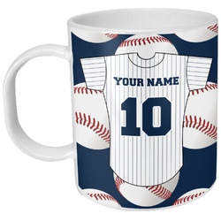 Baseball Jersey Plastic Kids Mug (Personalized)