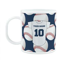 Baseball Jersey Plastic Kids Mug (Personalized)