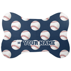 Baseball Jersey Bone Shaped Dog Food Mat (Personalized)