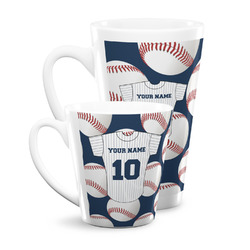 Baseball Jersey Latte Mug (Personalized)